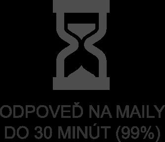 Odpoveď na mail do 30 minút